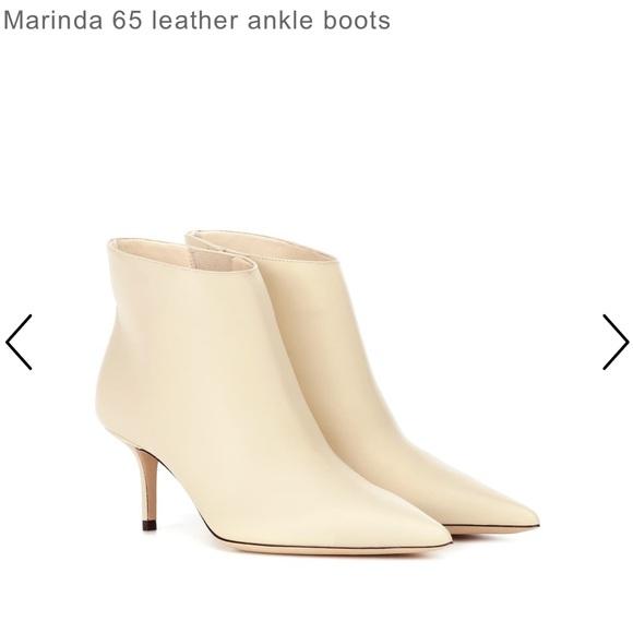 Miranda Cream Leather Ankle Boot